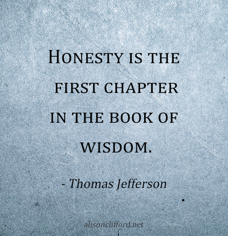 Honesty is the first chapter in the book of wisdom - Thomas Jefferson